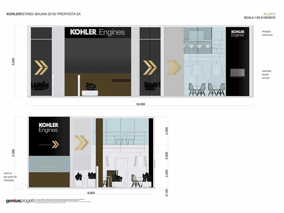 Kohler Engines Exhibition Stand The Light Box Genius Progetti 50 Kw Engine Electrical Diagram Modifications Agritechnica Adaptation Of Was Similar To Original Project Developed For Eima With A Slightly